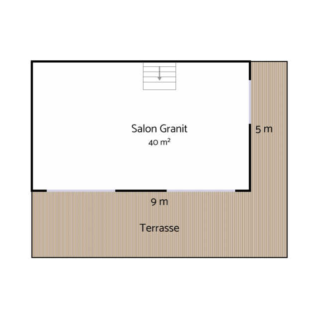 Plan salon Granit