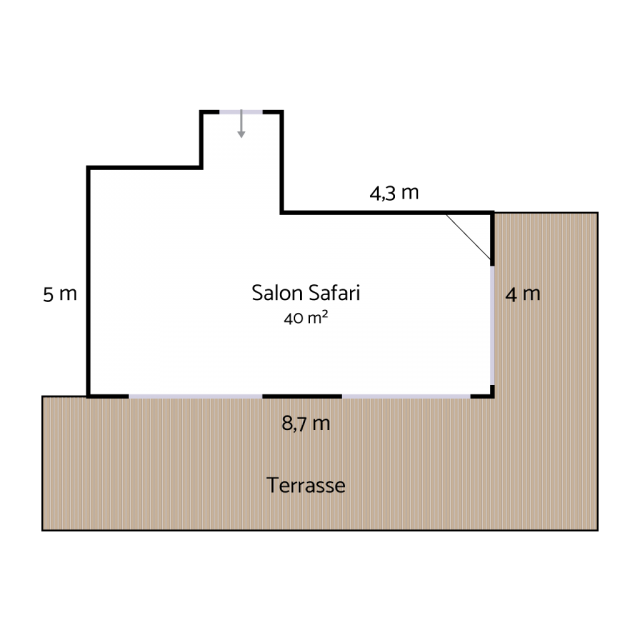 Plan Safari room